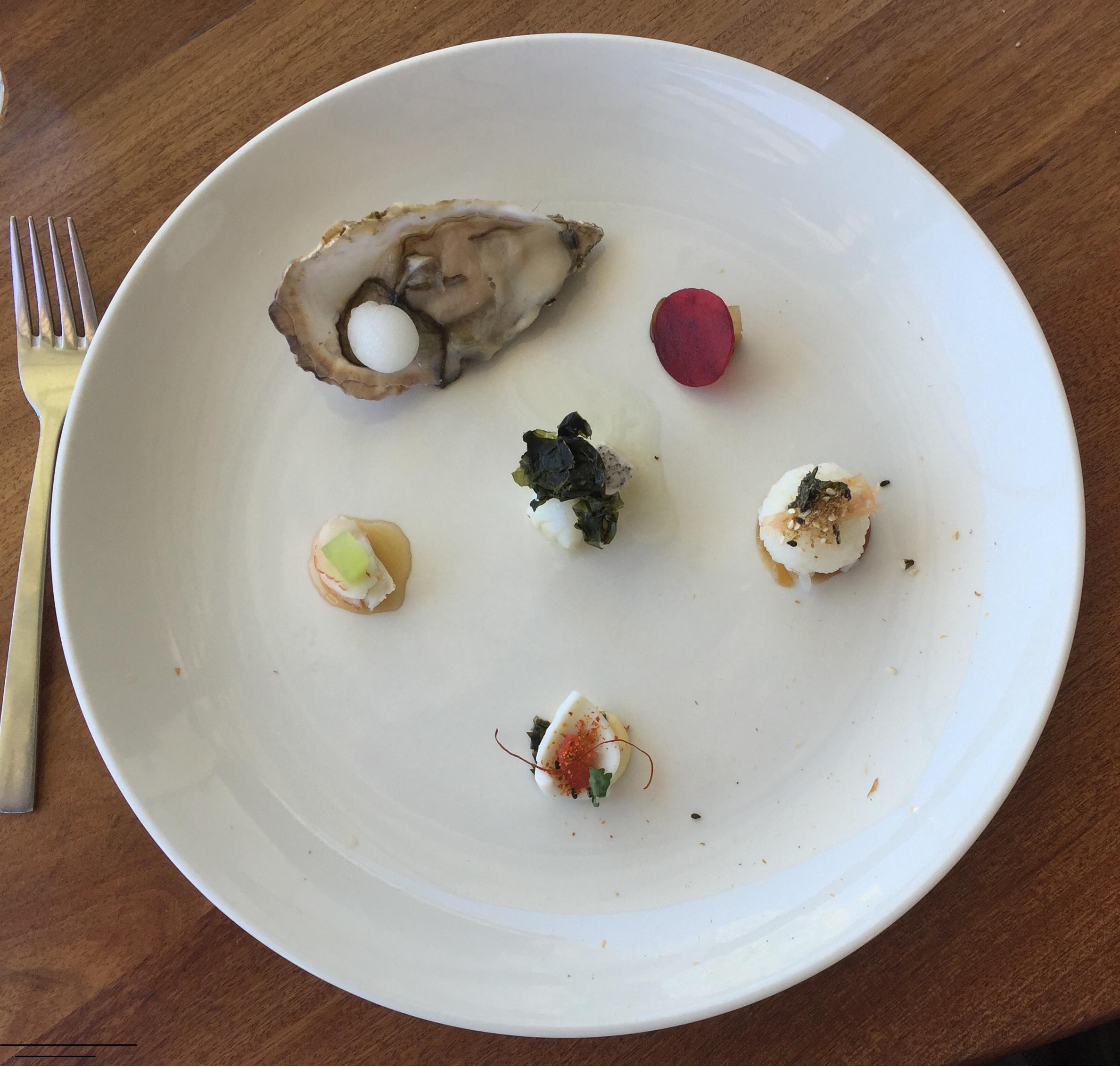 Tokara seafood starter